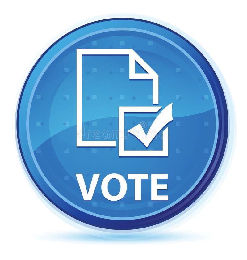 Botón redondo primero azul de medianoche del voto (icono de la encuesta) ilustración del vector