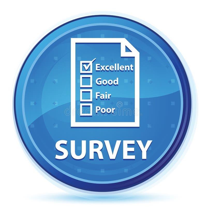 Botón redondo primero azul de medianoche de la encuesta (icono del cuestionario) libre illustration