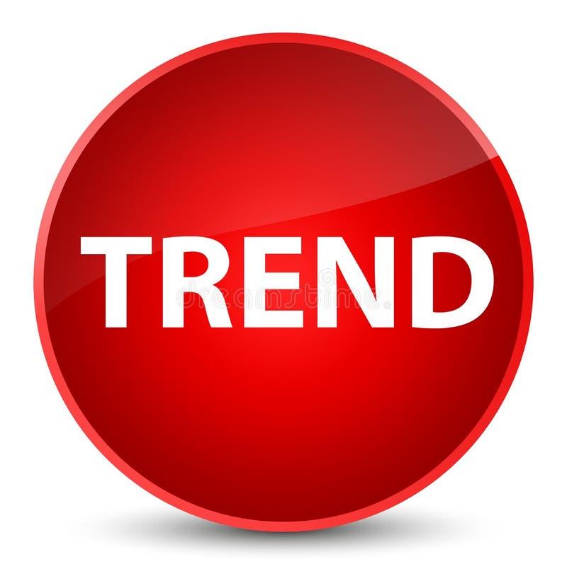 Botón redondo rojo elegante de la tendencia ilustración del vector