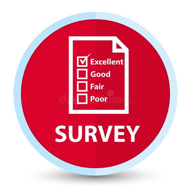 Botón redondo rojo primero plano de la encuesta (icono del cuestionario) libre illustration