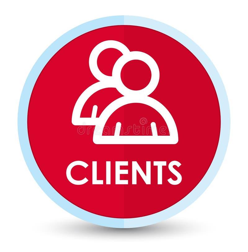 Botón redondo rojo primero plano de los clientes (icono de grupo) libre illustration