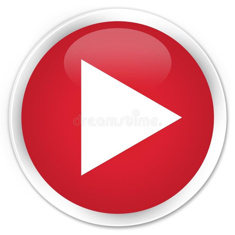 Botón redondo rojo superior del icono del juego fotos de archivo
