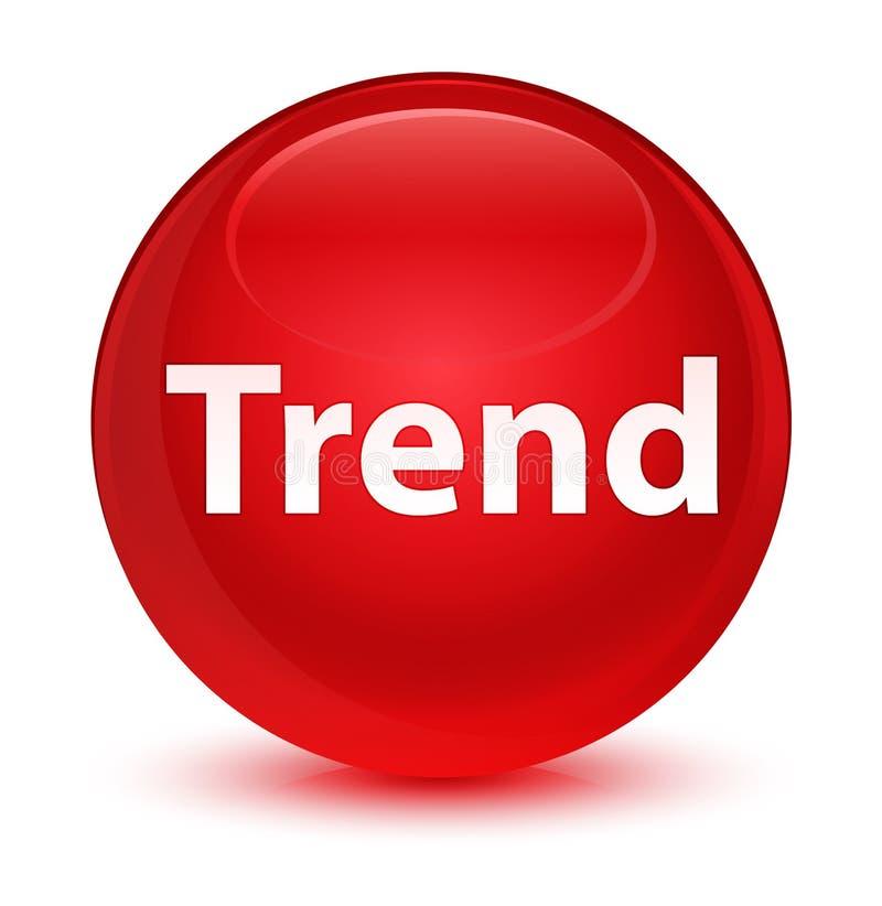Botón redondo rojo vidrioso de la tendencia libre illustration