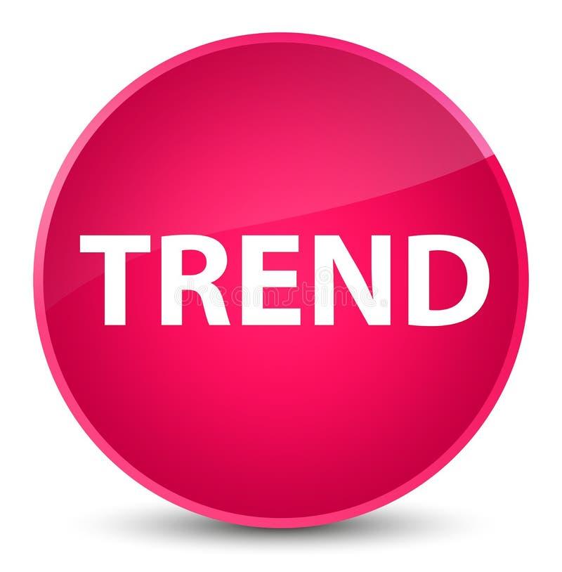 Botón redondo rosado elegante de la tendencia ilustración del vector