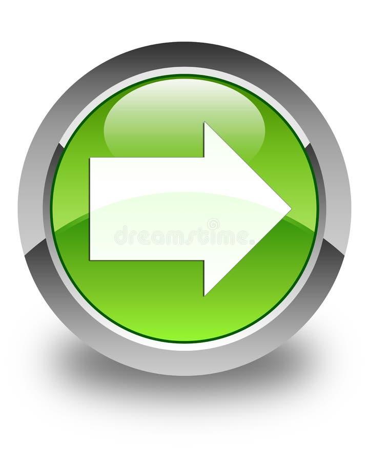 Botón redondo verde brillante del icono siguiente de la flecha fotografía de archivo libre de regalías