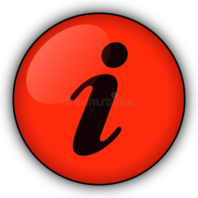Botón rojo de la información ilustración del vector