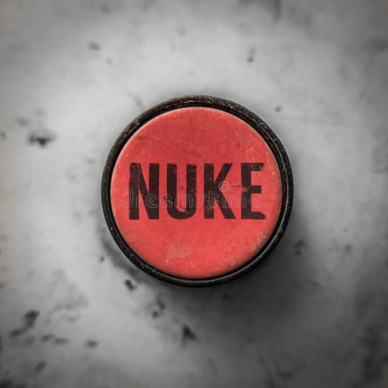 Botón rojo del arma nuclear foto de archivo libre de regalías