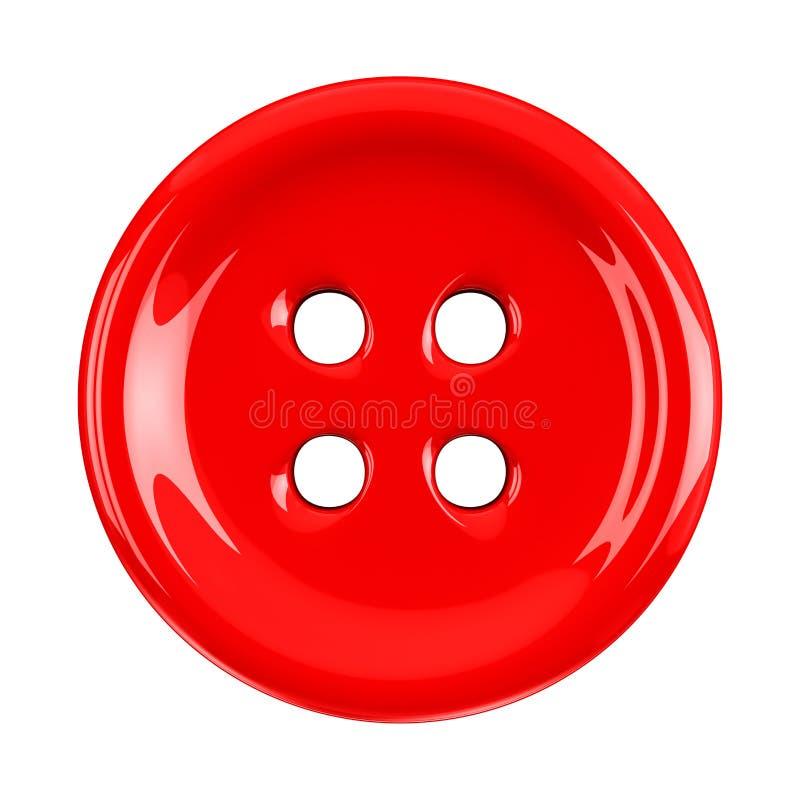 Botón rojo del paño, 3d foto de archivo