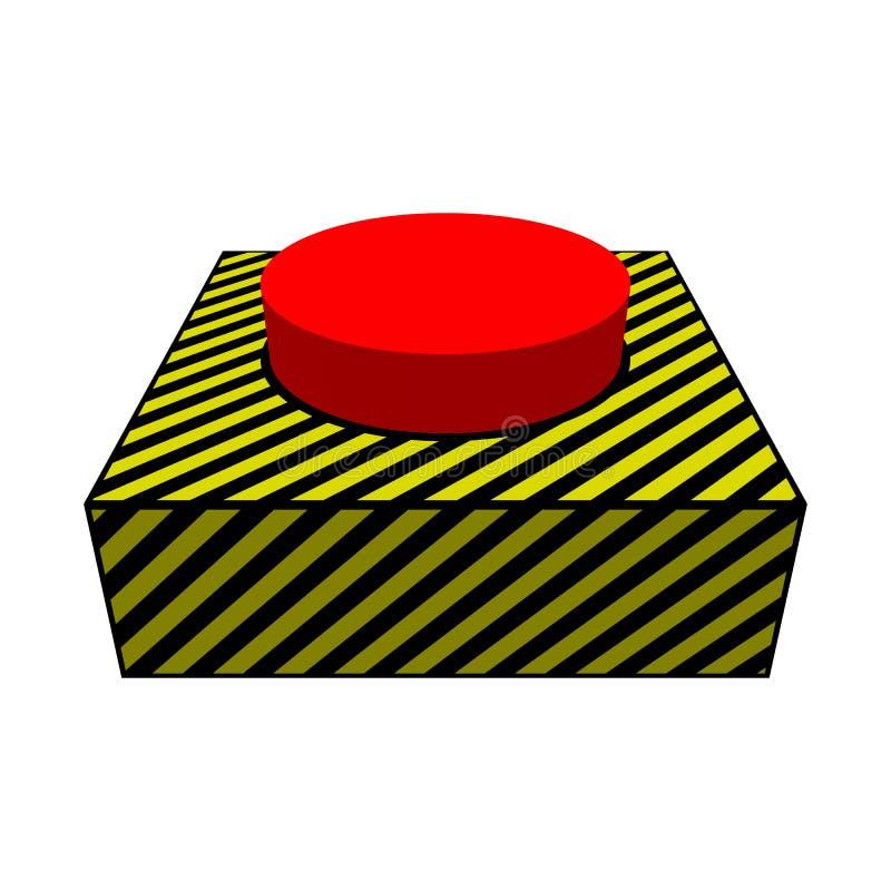 Botón rojo grande fotografía de archivo