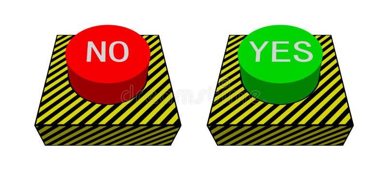 Botón rojo y verde grande foto de archivo libre de regalías