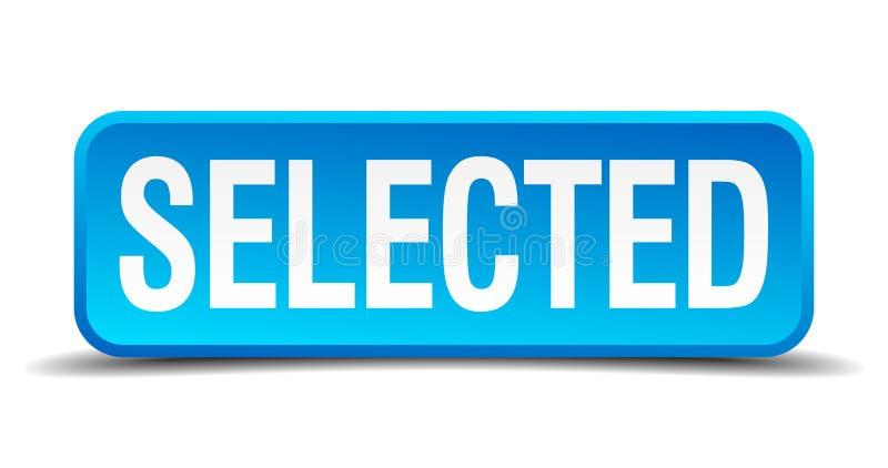 botón seleccionado ilustración del vector