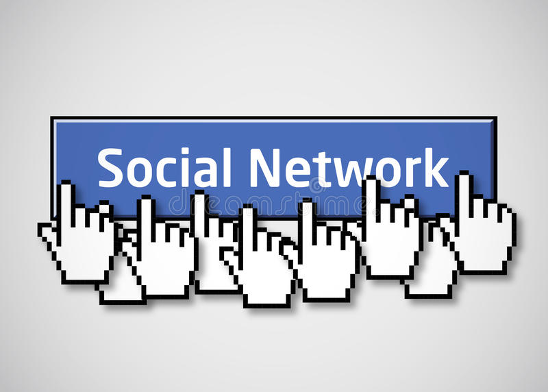 Botón social 2 de la red ilustración del vector