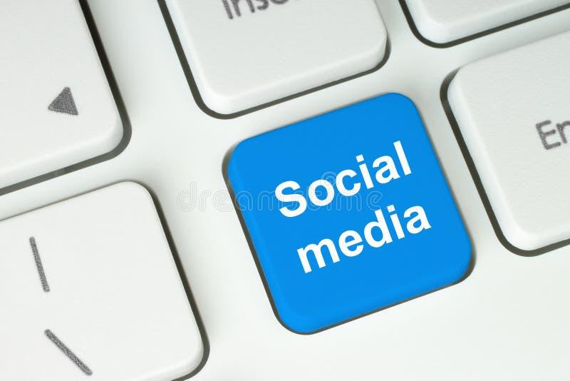 Botón social de los media imagen de archivo