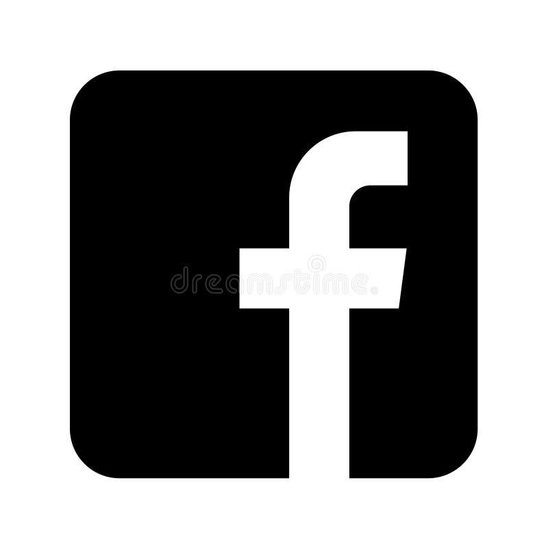 Botón social del icono de los medios de Facebook ilustración del vector