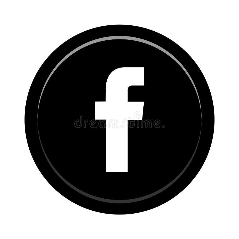 Botón social del icono de los medios de Facebook libre illustration
