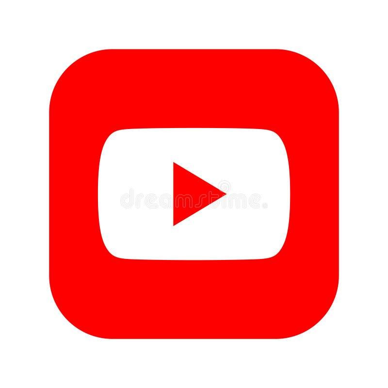 Botón social del icono de los medios de YouTube libre illustration