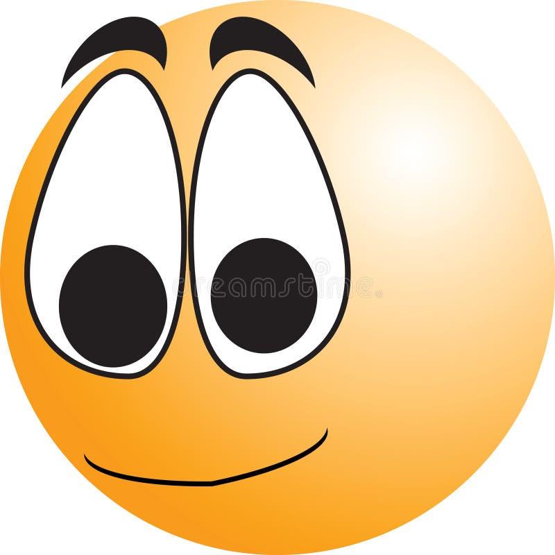 Botón sonriente de la cara ilustración del vector