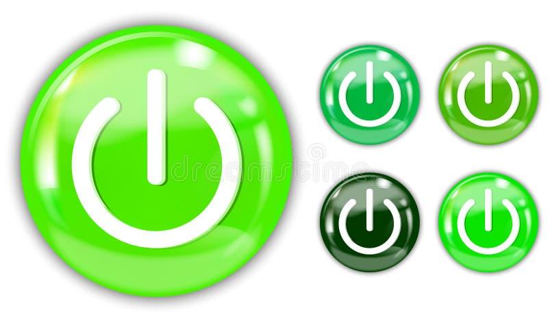 Botón verde libre illustration