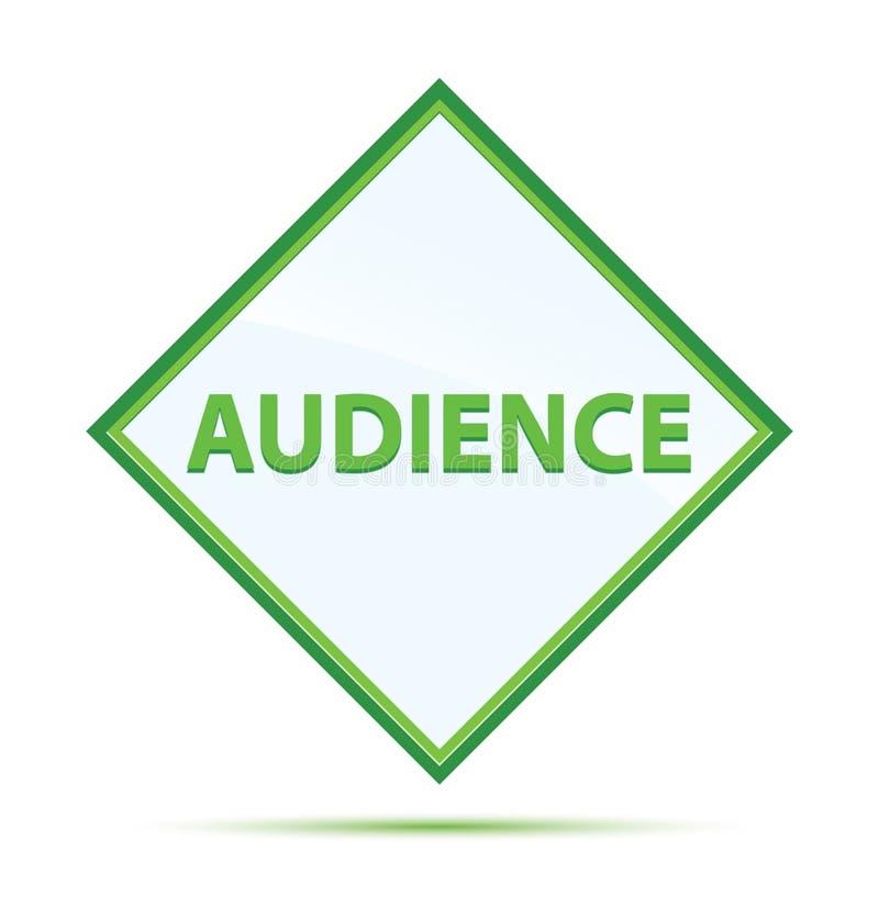 Botón verde abstracto moderno del diamante de la audiencia stock de ilustración