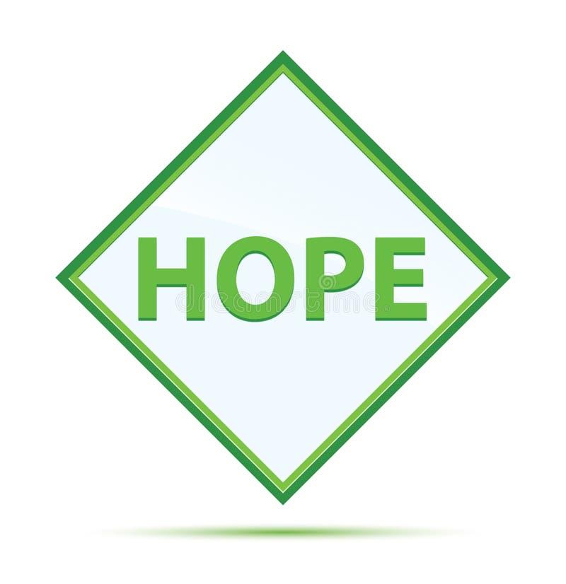 Botón verde abstracto moderno del diamante de la esperanza ilustración del vector