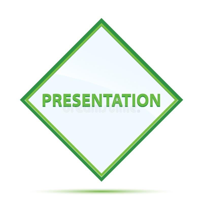 Botón verde abstracto moderno del diamante de la presentación libre illustration