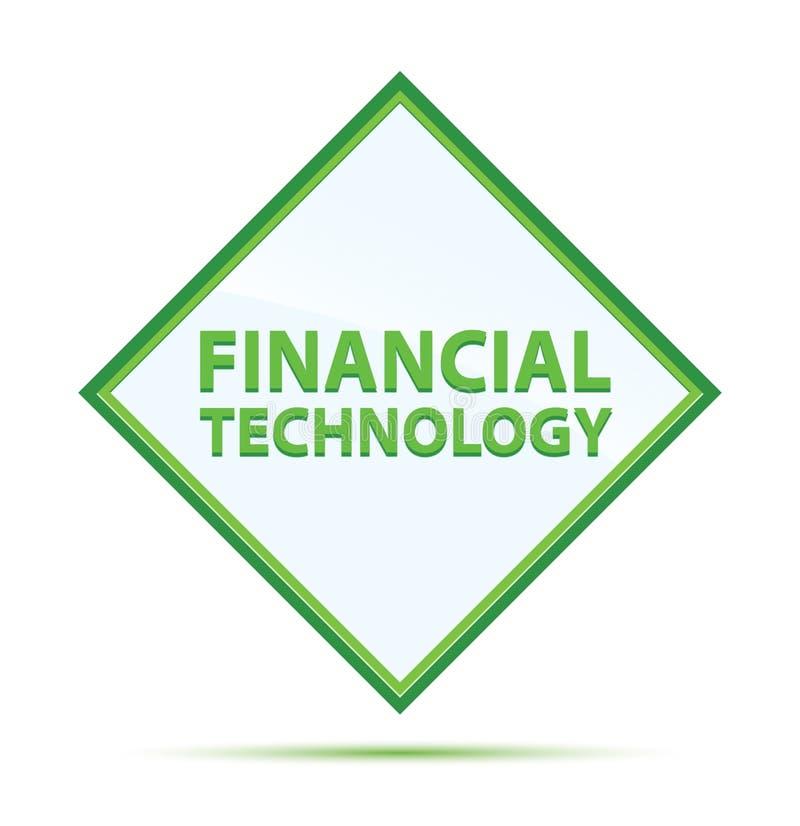 Botón verde abstracto moderno del diamante de la tecnología financiera libre illustration