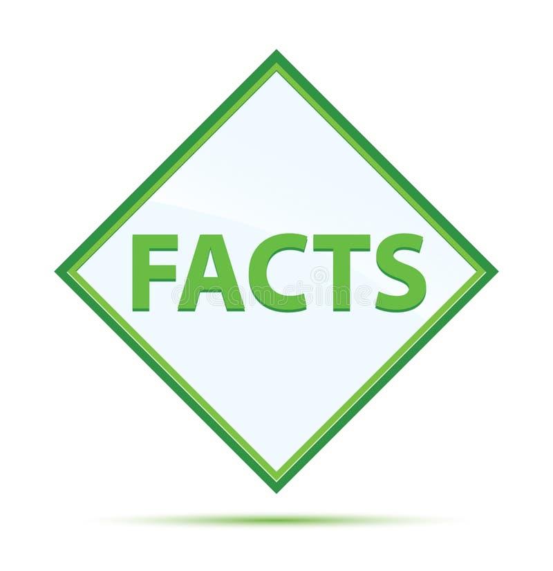 Botón verde abstracto moderno del diamante de los hechos libre illustration