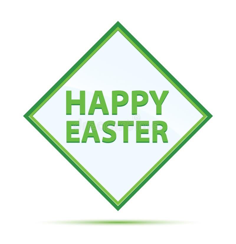 Botón verde abstracto moderno feliz del diamante de Pascua libre illustration