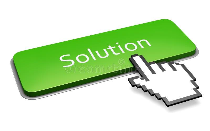 Botón verde de la solución ilustración del vector