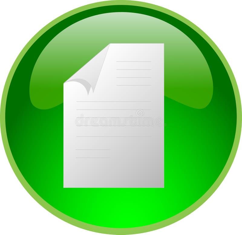 Botón verde del fichero ilustración del vector