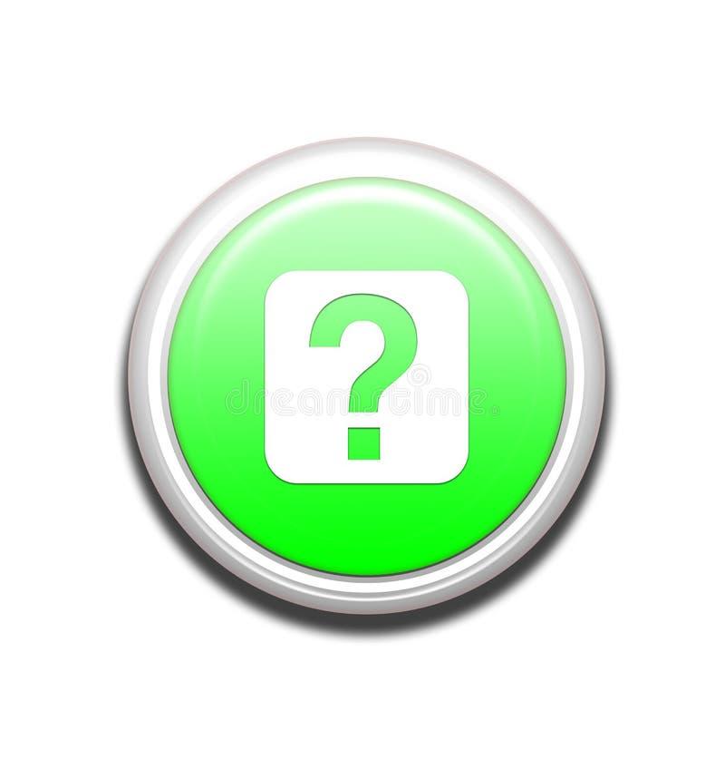 Botón verde del Info stock de ilustración