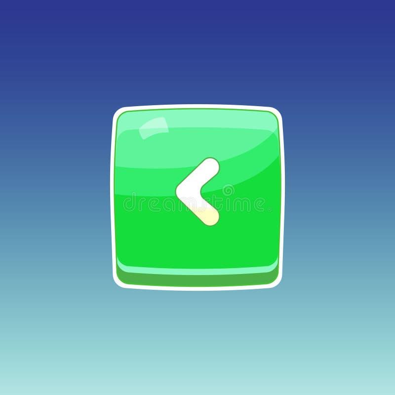 Botón verde del juego ilustración del vector
