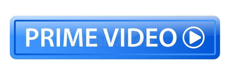 Botón video primero del web stock de ilustración