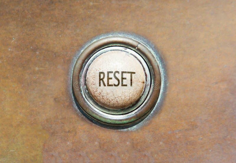 Botón viejo - reset fotos de archivo