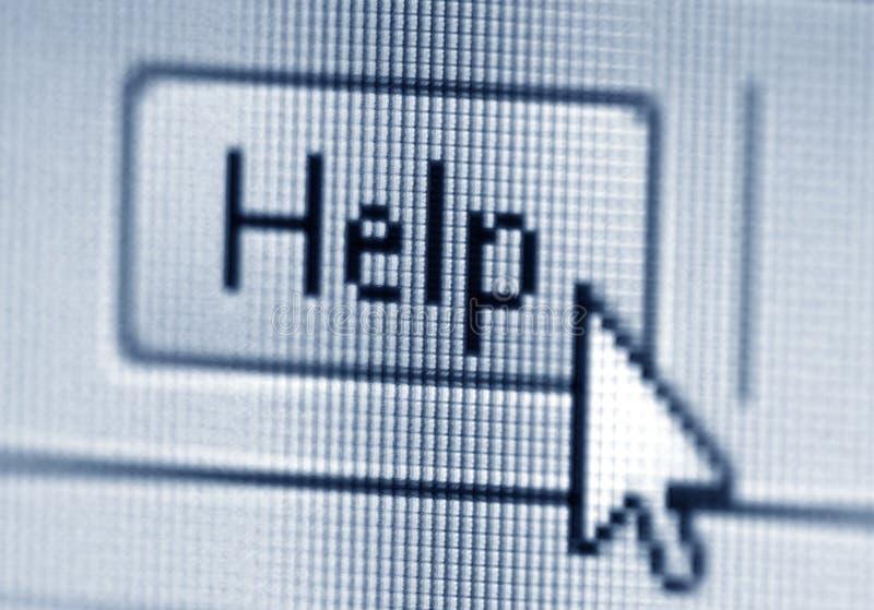 Botón y cursor de la ayuda imagen de archivo libre de regalías