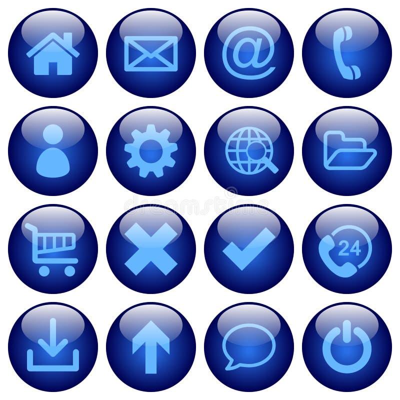Botões básicos da Web Estado normal ilustração stock