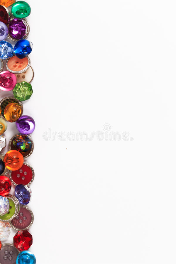 Botões coloridos decorativos do botão ou do álbum de recortes da costura do vintage fotografia de stock