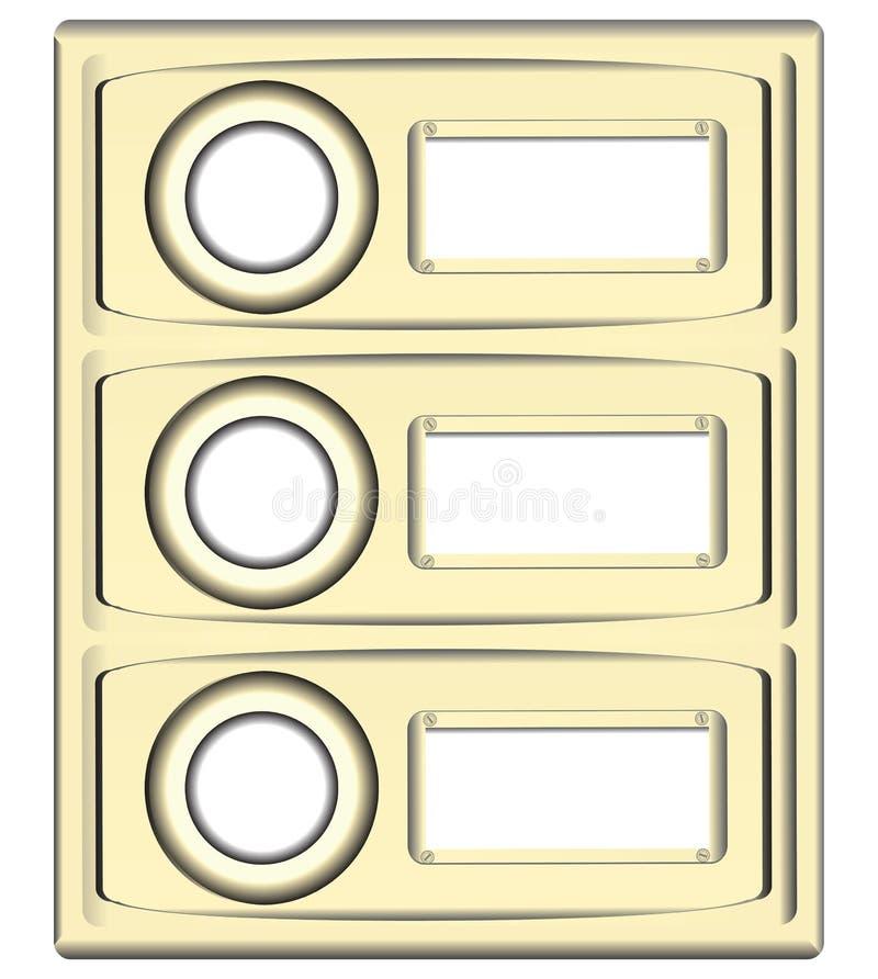 Botões da campainha do bloco ilustração royalty free