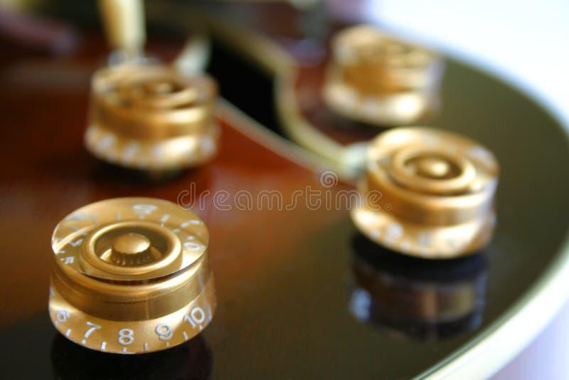 Botões da guitarra imagens de stock
