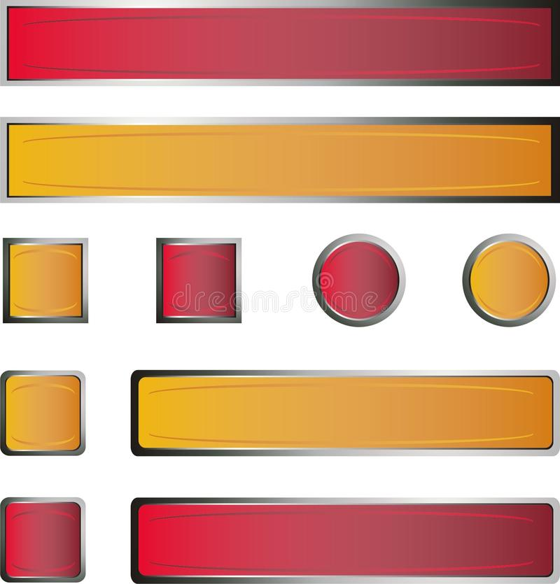 Botões da Web ilustração stock