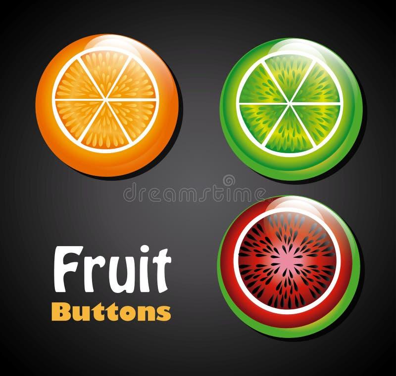 Botões de Frui ilustração stock