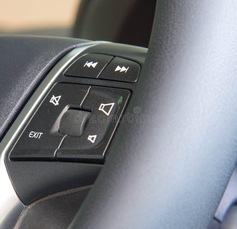 Botões de função do volante do carro multi fotografia de stock royalty free