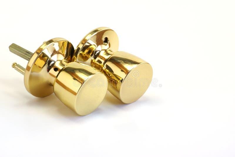 Botões de porta brilhantes imagens de stock royalty free