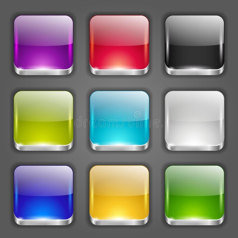 Botões do App ajustados ilustração do vetor