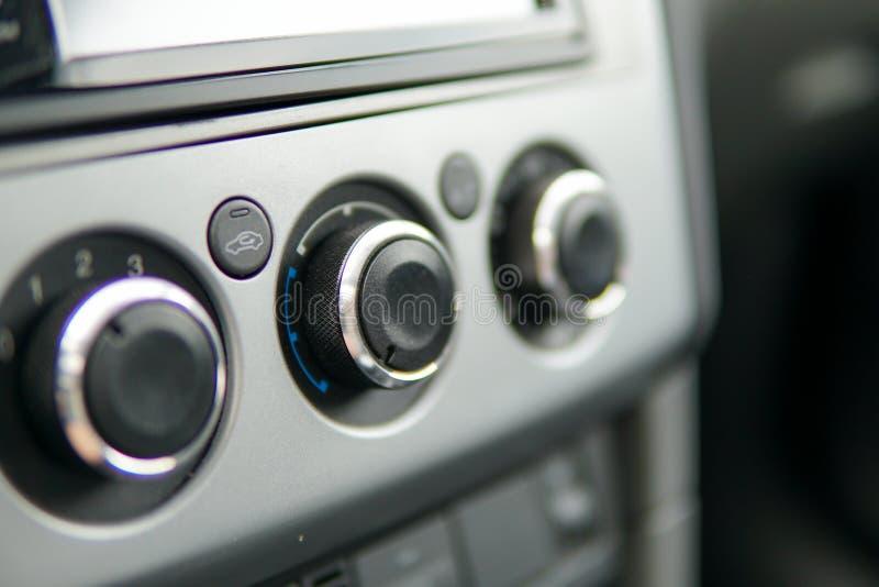 Botões do interior do carro fotografia de stock royalty free