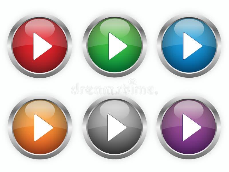 Botões do jogo da Web ilustração do vetor