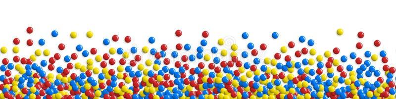 Botões lustrosos redondos, bolhas do jogo ou fundo doce dos doces ilustração royalty free