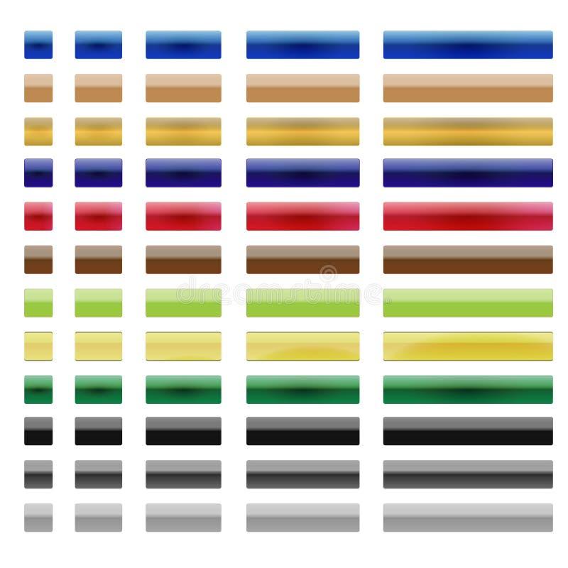 Botões metálicos ilustração stock