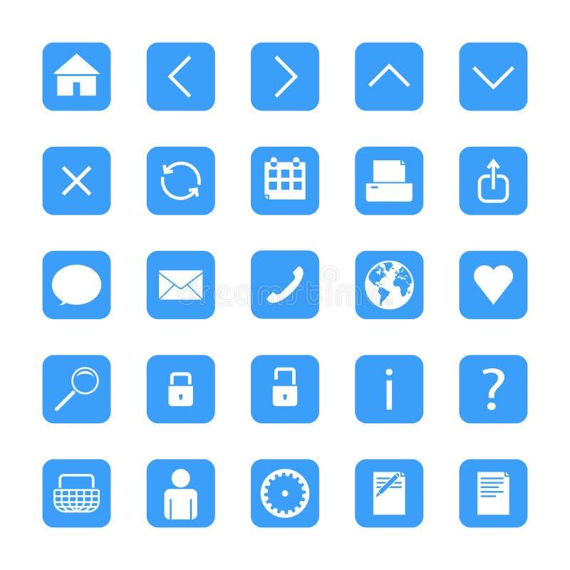 Botões minimalistas da Web ilustração royalty free