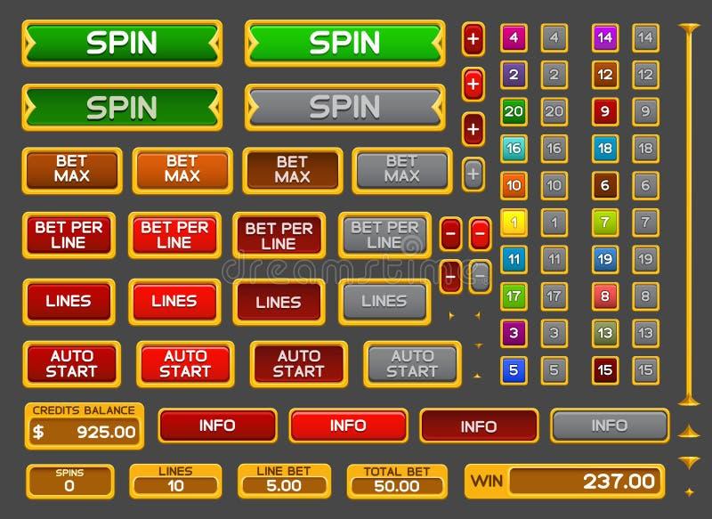 Botões para o jogo dos entalhes ilustração royalty free